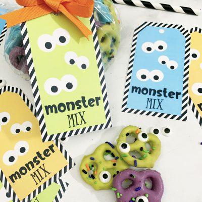 Easy Monster Halloween Snack Mix