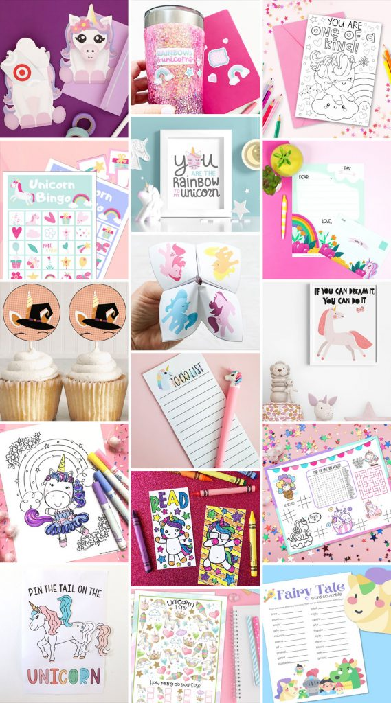 Free Unicorn Printables at Pineapple Paper Co.
