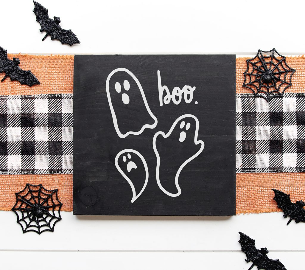 Ghost Chalkboard Sign with Free Ghost SVG