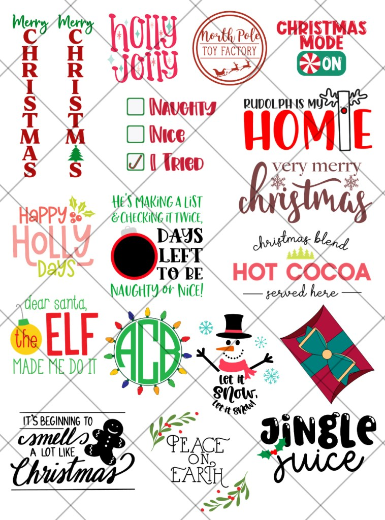 17 Free Christmas SVG Files for Cricut and Silhouette