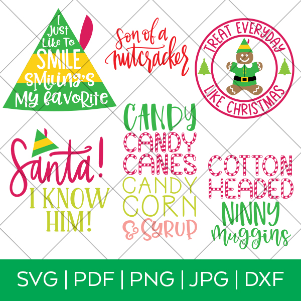 Elf Movie SVG Bundle for Cricut and Silhouette Machines