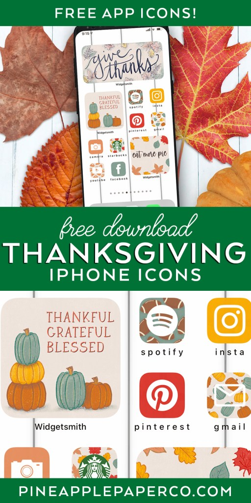 Download Thanksgiving iPhone Icons Aesthetic