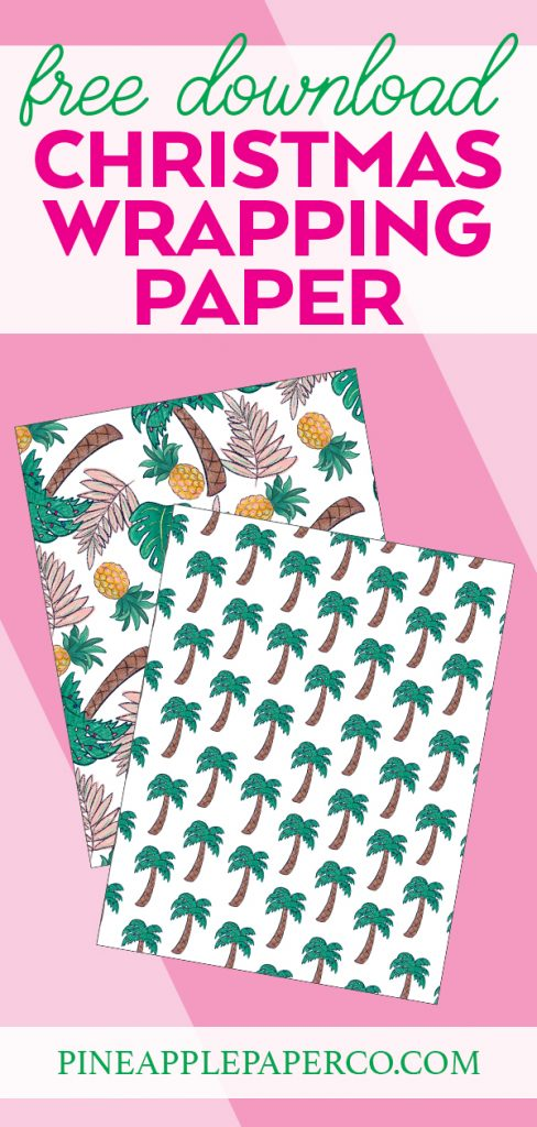 Tropical Printable Wrapping Paper at Pineapple Paper Co.
