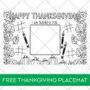 Printable Thanksgiving Placemat Coloring Page