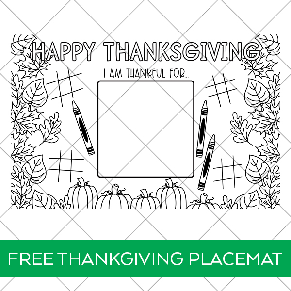 Free Printable Thanksgiving Placemat Coloring Page