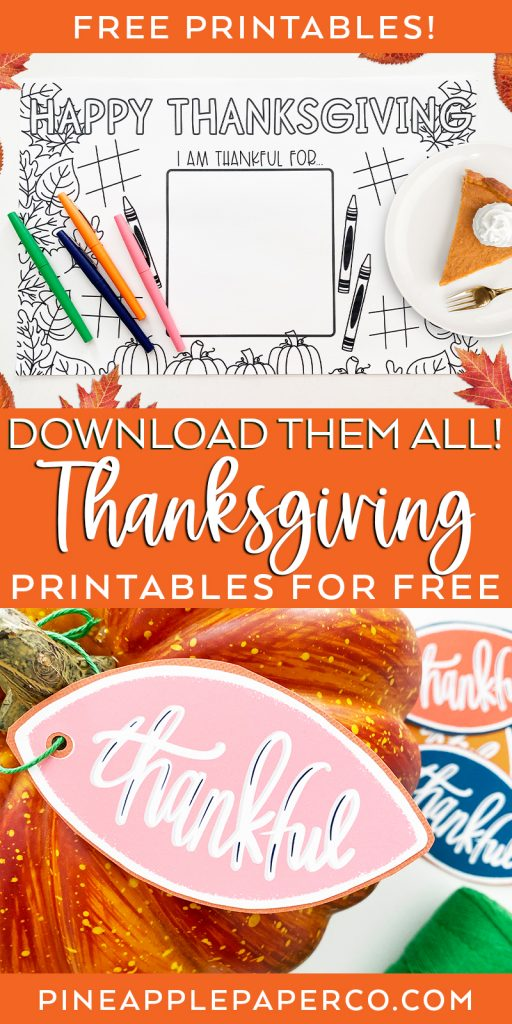 Download Thanksgiving Printables for Free