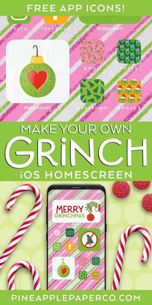 Grinch Christmas Aesthetic for iPhone and iOS 14 App and Widget Icons