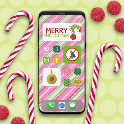 Grinch iPhone Aesthetic App and Widget Icons