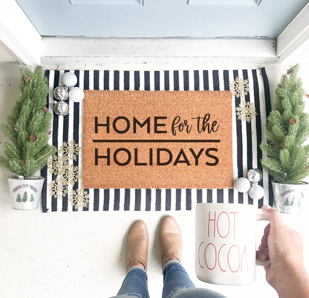 DIY Home for the Holidays Doormat