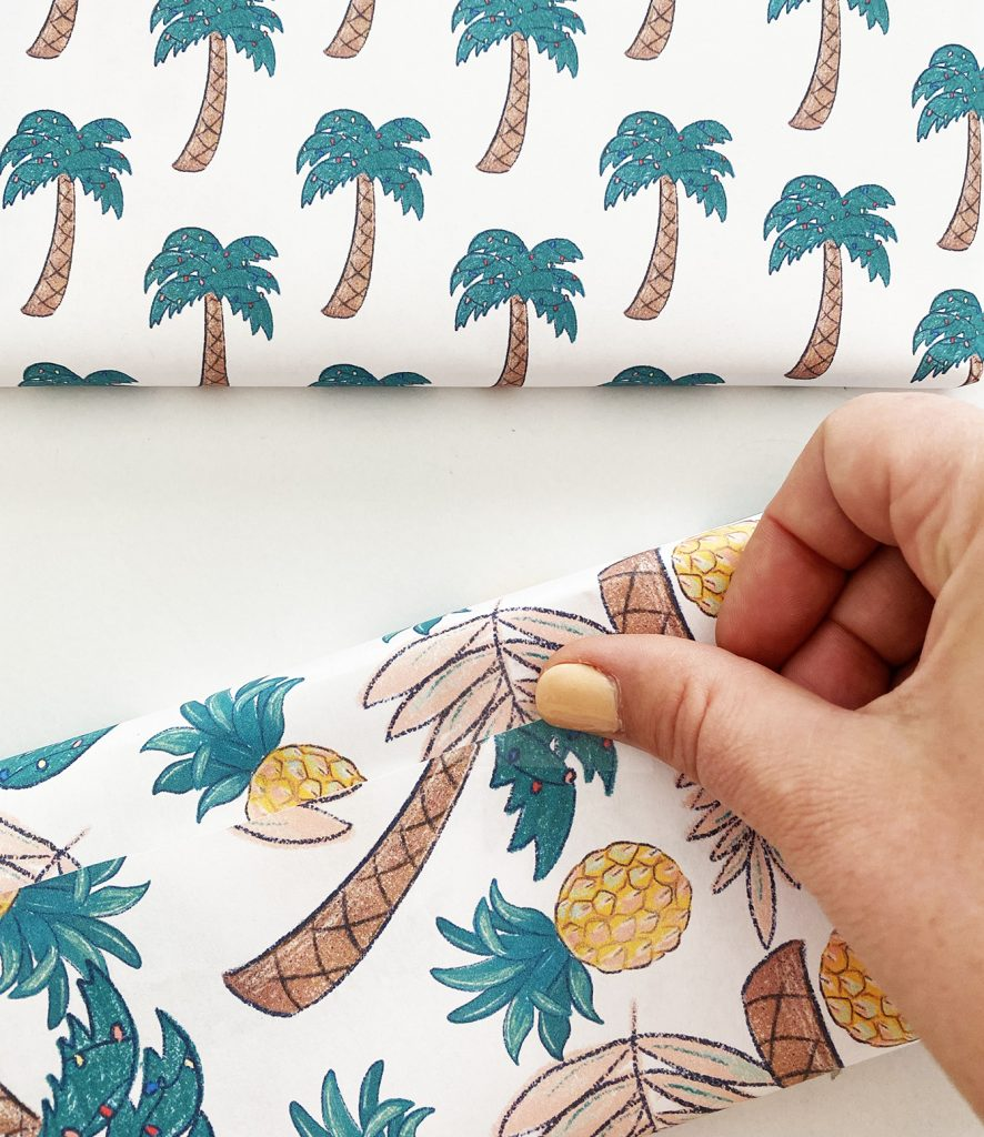Using Printable Wrapping Paper from Pineapple Paper Co.