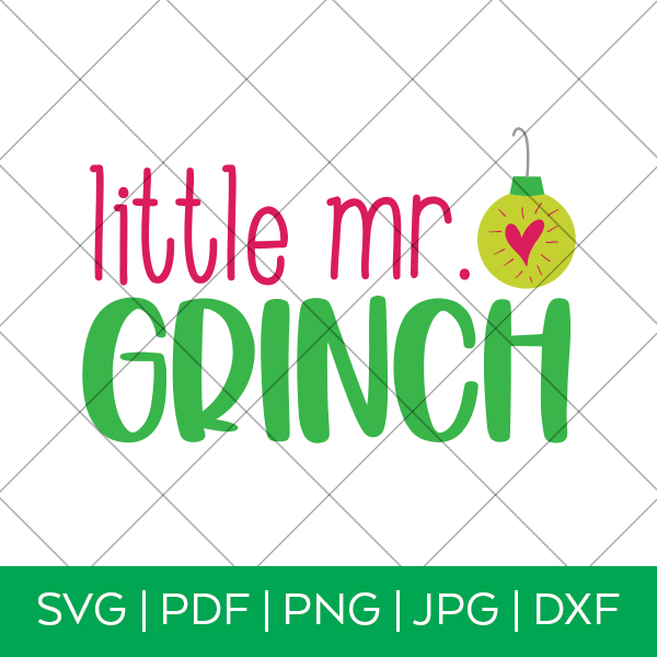Little Mr Grinch SVG File