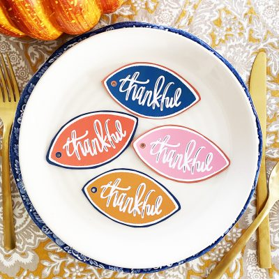 Free Printable Thankful Tags for Thanksgiving