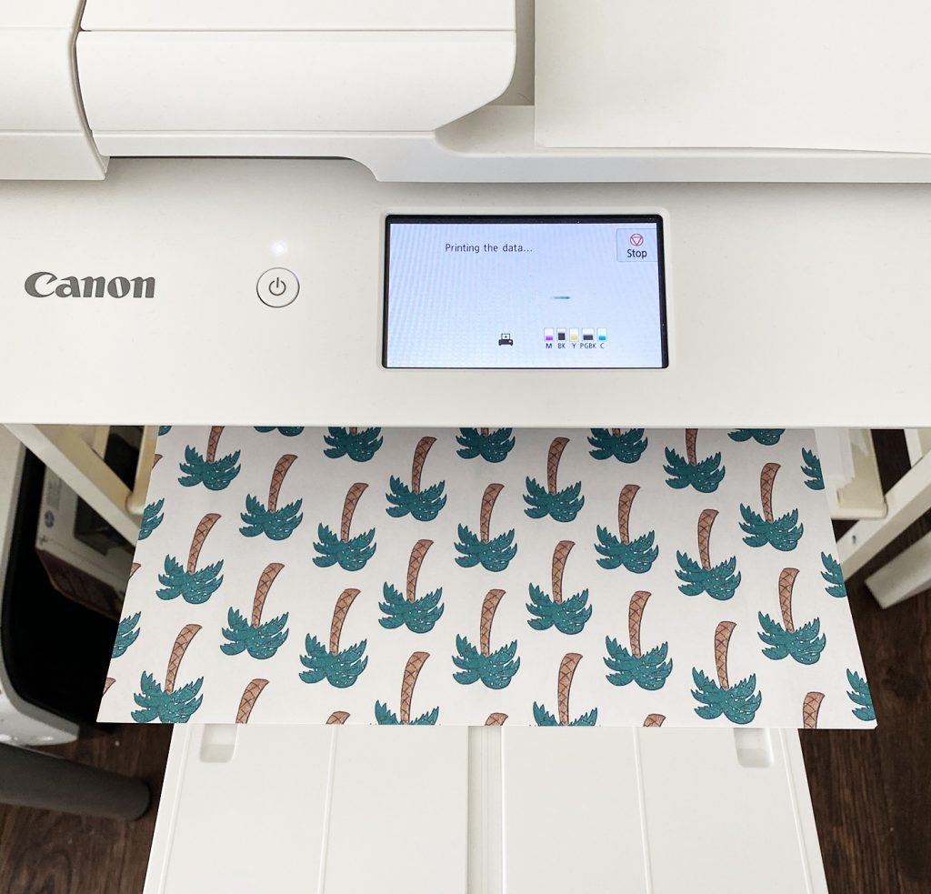 Borderless Printing with Canon Craft Printer and Printable Wrapping Paper for Christmas