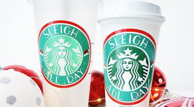 DIY Starbucks Label Christmas FREE SVG for Cricut