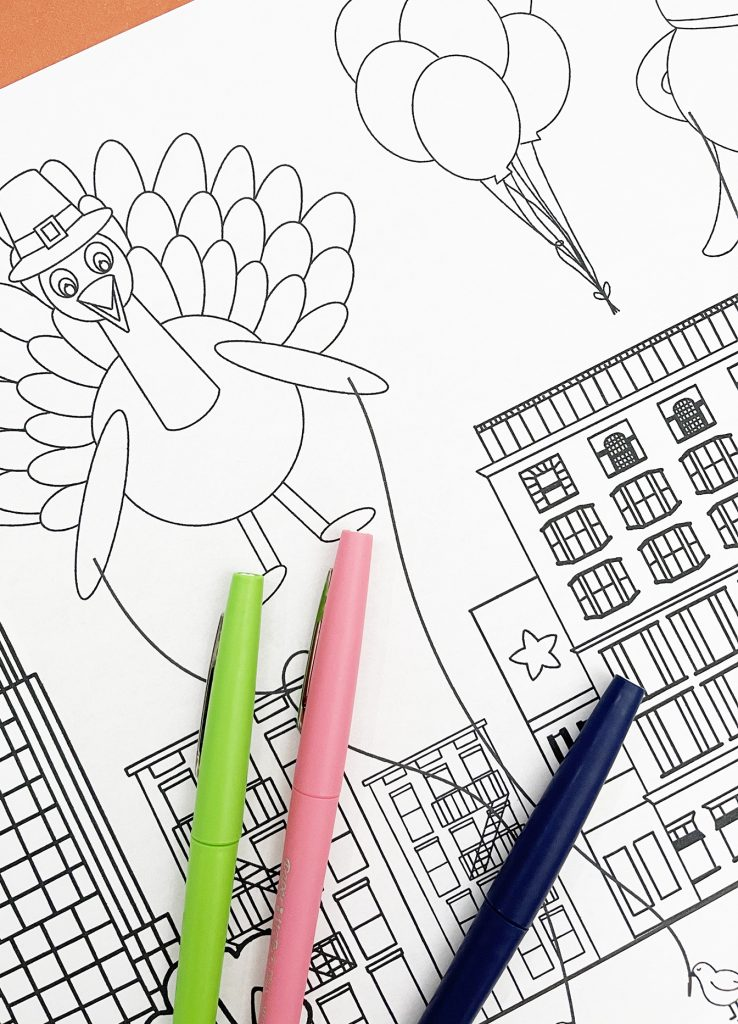 Macys Thanksgiving Day Parade Coloring Page Free Download