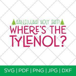 Where's the Tylenol Christmas Vacation SVG
