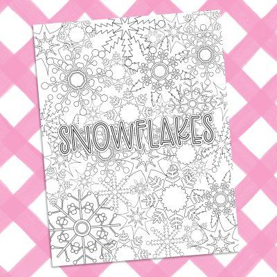 Printable Snowflake Coloring Sheet