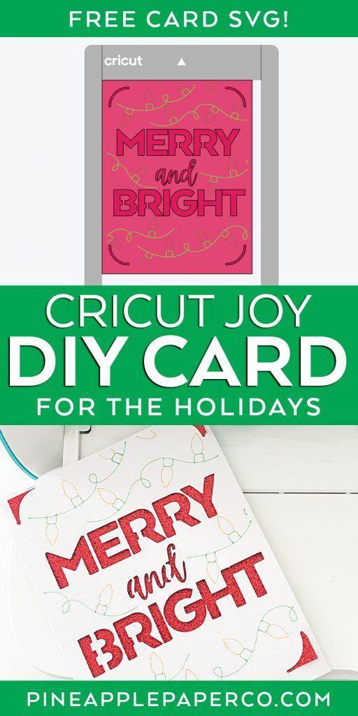 Make a DIY Christmas Card with the Cricut Joy and FREE SVG