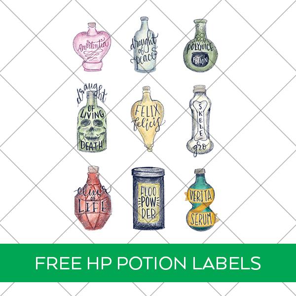 Free Harry Potter Potion Labels Printable