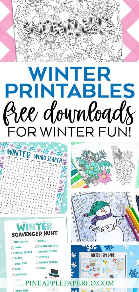 18 Free Winter Printables