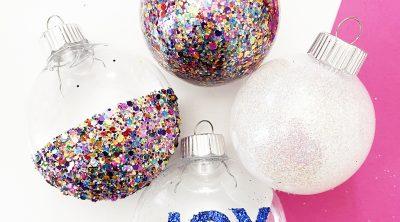 5 Easy DIY Glitter Ornament Ideas