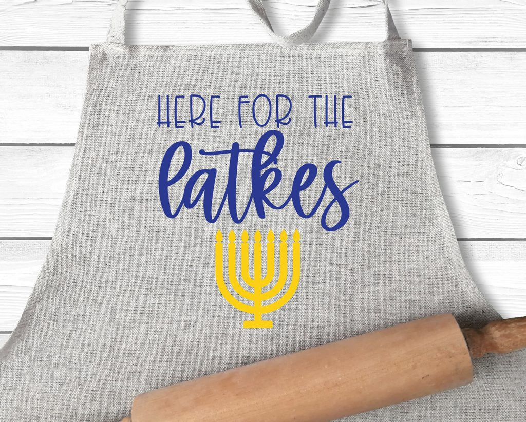 Here for the Latkes DIY Apron with Free SVG
