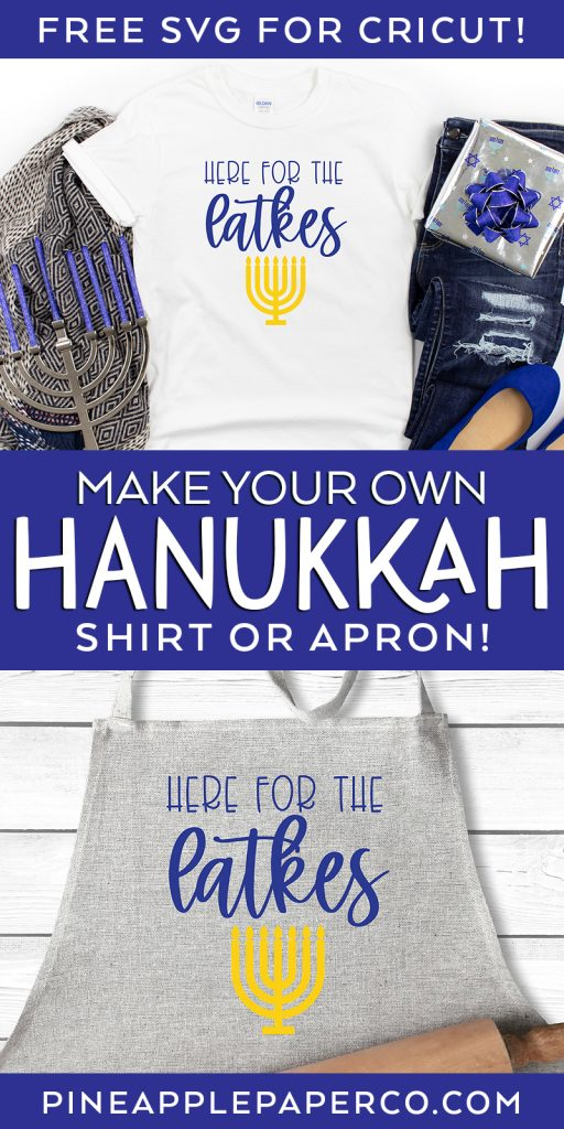 Make your Own DIY Hanukkah Shirt or Apron with a FREE SVG