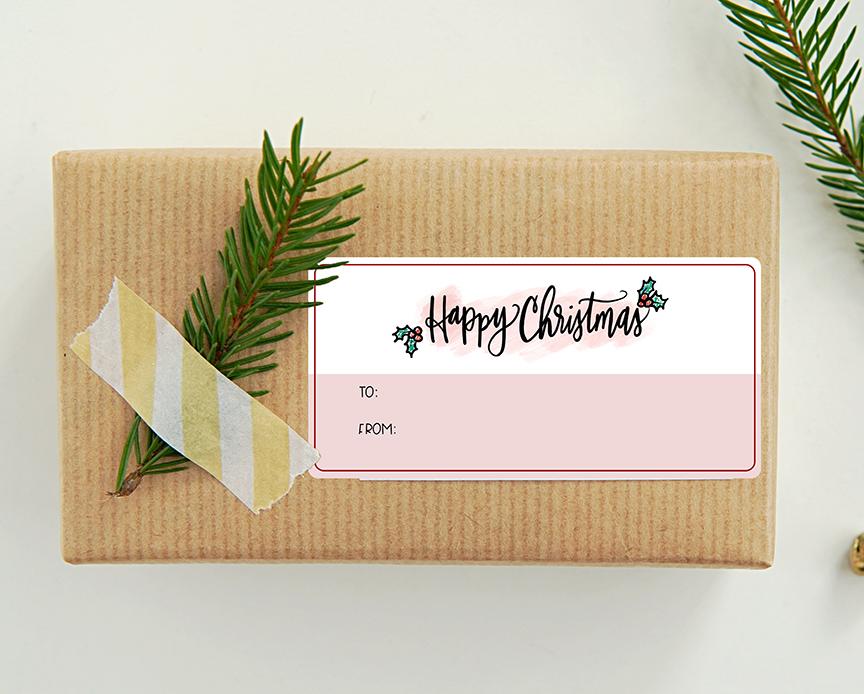 Free Printable Harry Potter Happy Christmas Gift Tag Sticker Printable