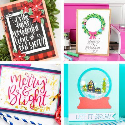 Handmade Christmas Cards with your Cricut Machine