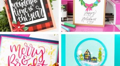DIY Cricut Christmas Cards - 20+ Cricut Card Ideas for the Holidays!