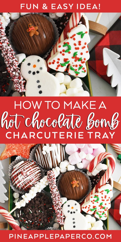 Hot Chocolate Bomb Charcuterie Board DIY Tutorial