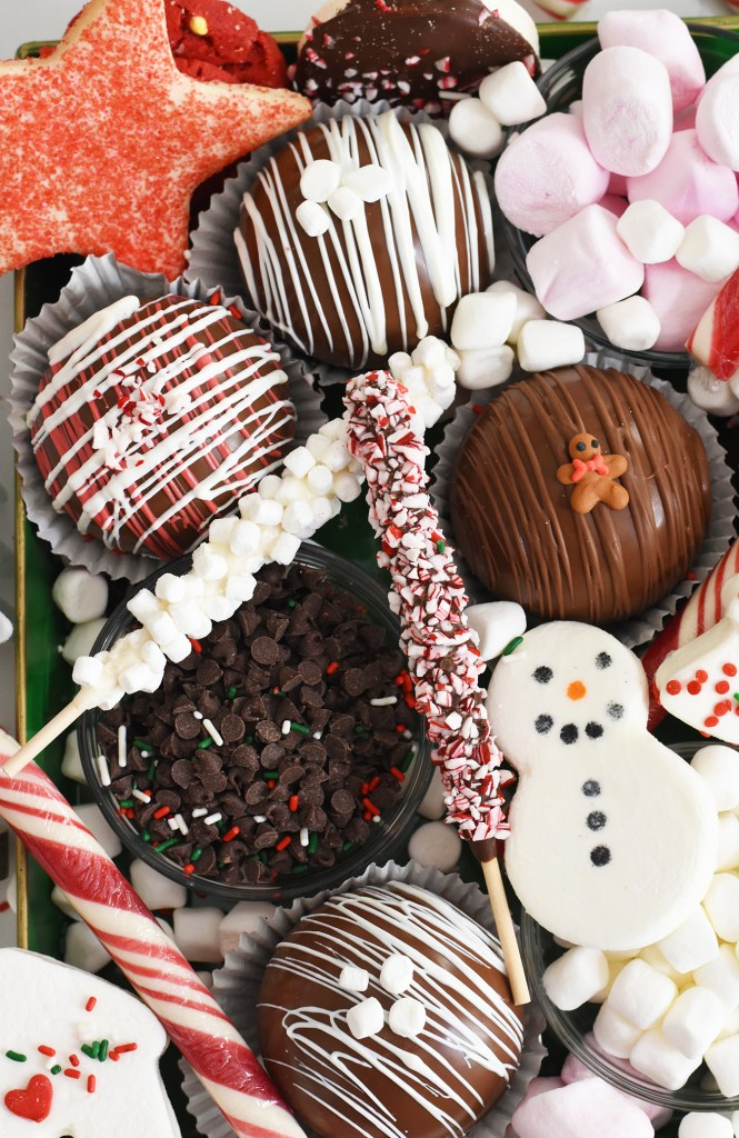 Hot Chocolate Bomb Charcuterie Tray by Pineapple Paper Co.