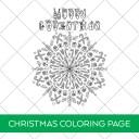Christmas Mandala Coloring Page Printable