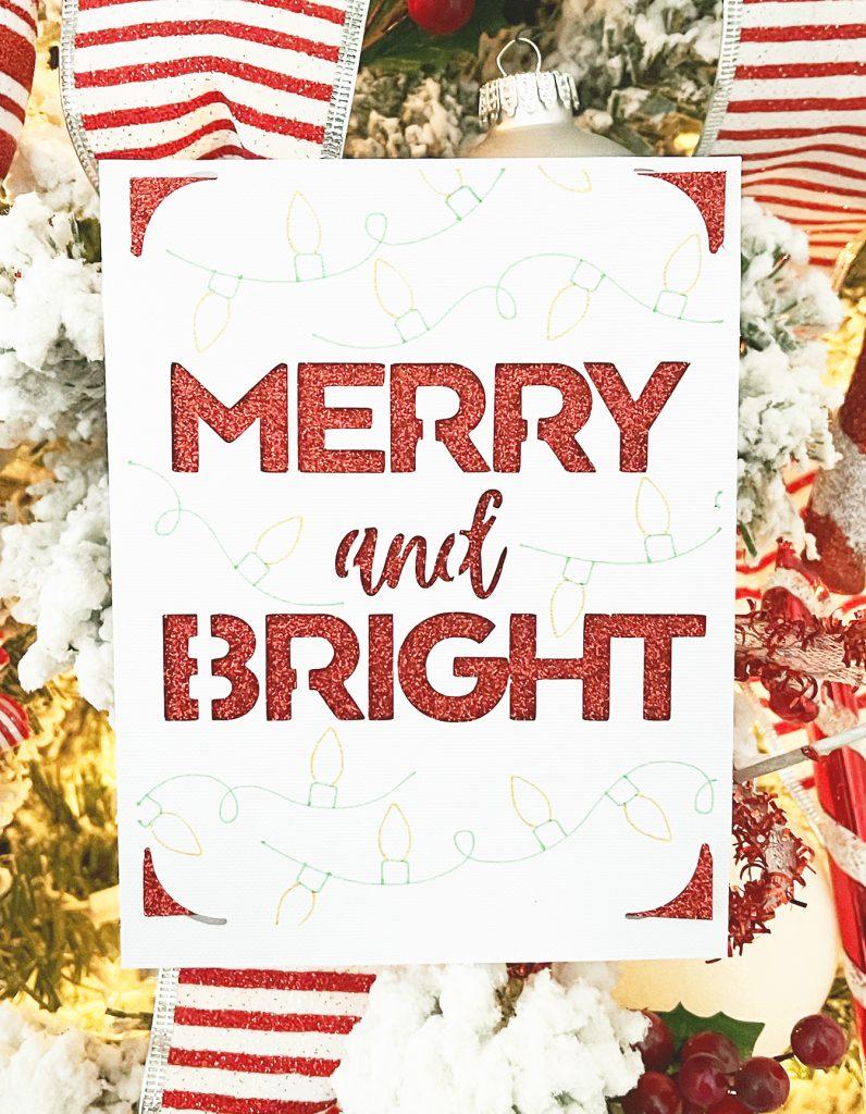 DIY Merry and Bright Christmas Card with Cricut Joy