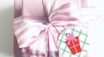FREE Printable Unicorn Gift Tag Stickers for Christmas