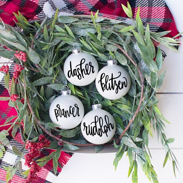 Reindeer Ornament SVG Set