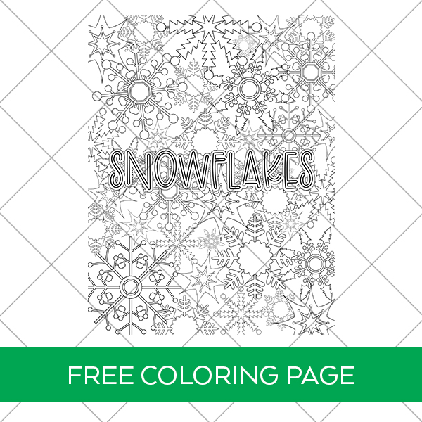 Free Snowflakes Coloring Sheet for Printable Winter Fun