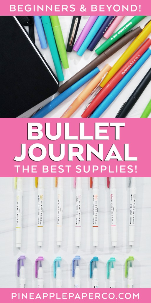 The Best Supplies for Bullet Journaling