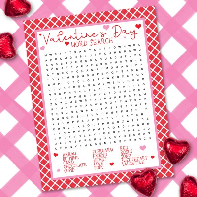 Free Valentine Word Search