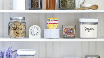 Pantry Storage with Vinyl Pantry Labels with FREE SVG FILES