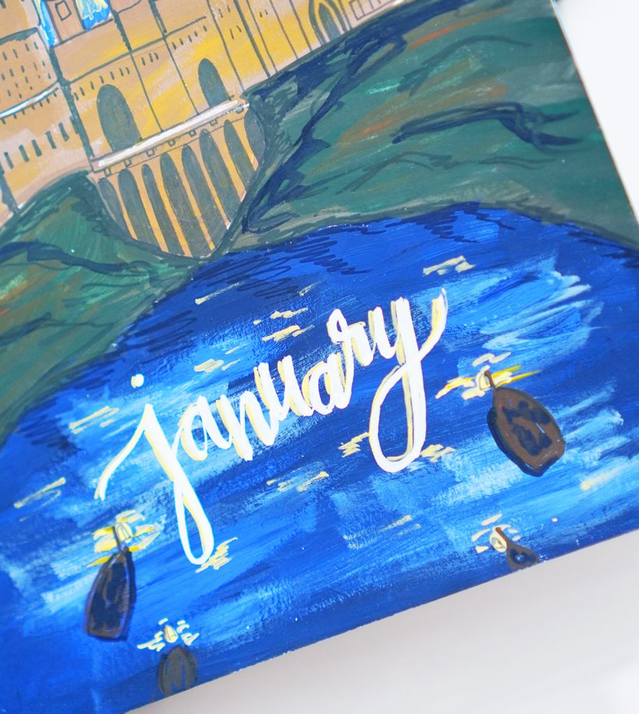 Gouache Painting in Bullet Journal