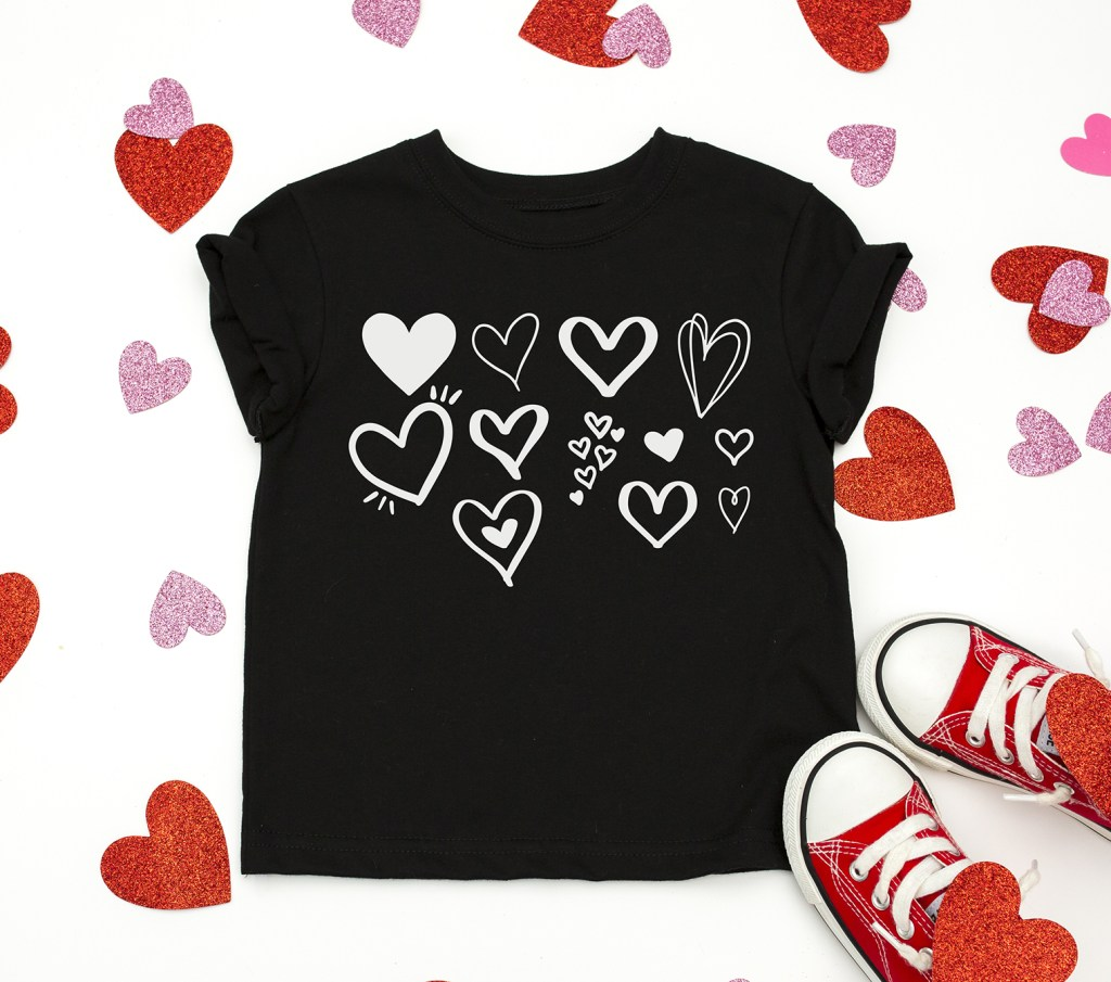 valentine shirt diy with heart svg free