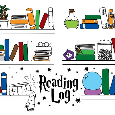 Harry Potter Printable Reading Log for Journal or Coloring Page