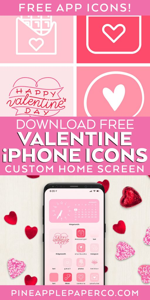 Free Valentine iPhone App Icons for ios 14 iPhone