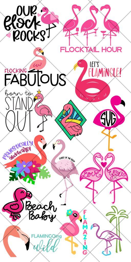 Free Flamingo SVG Files for Cricut & Silhouette