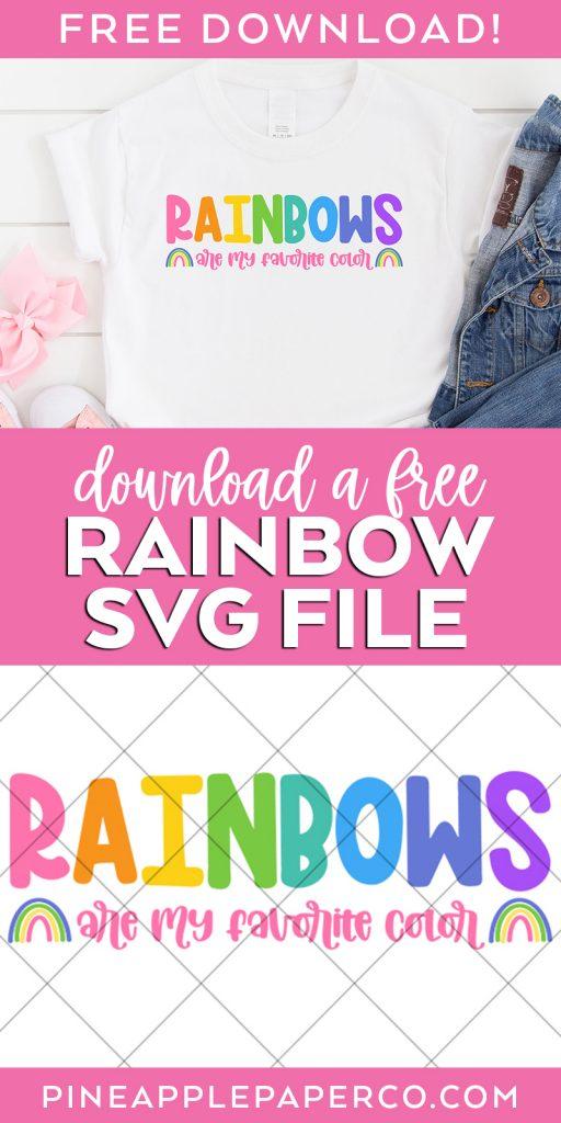 Free Rainbow SVG File for Cricut & Silhouette