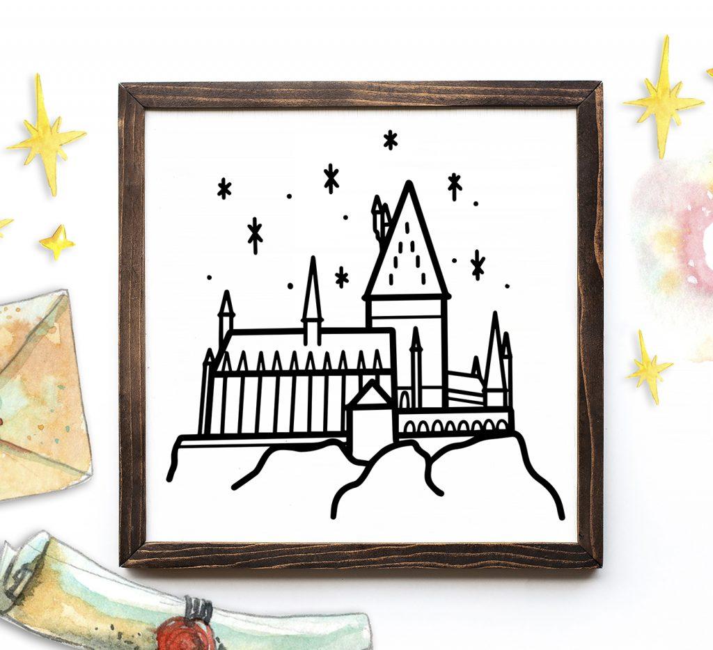 Hogwarts Sign made with Cricut