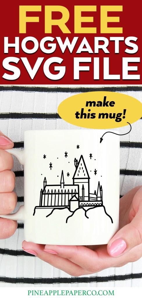 Free Hogwarts SVG for Cricut and Silhouette to Make a Hogwarts Mug