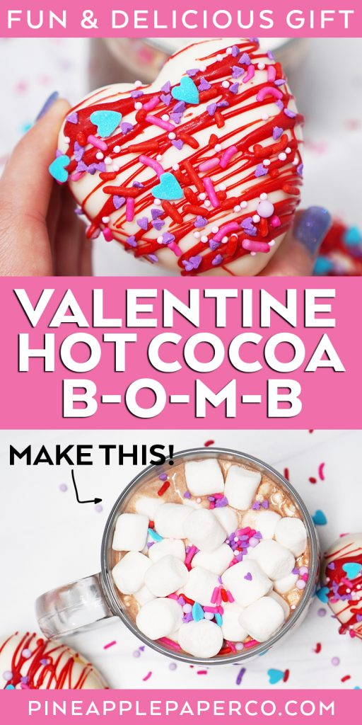 Valentine Hot Cocoa Bomb from Pineapple Paper Co.