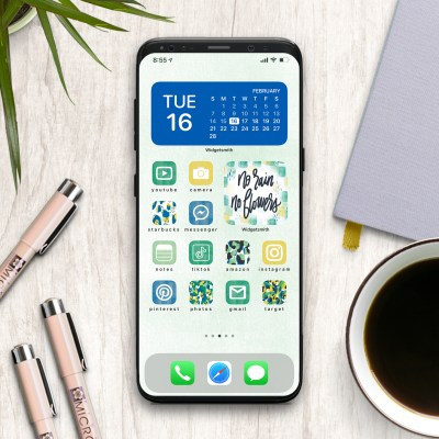 iPhone with Spring Icons that are FREE Download